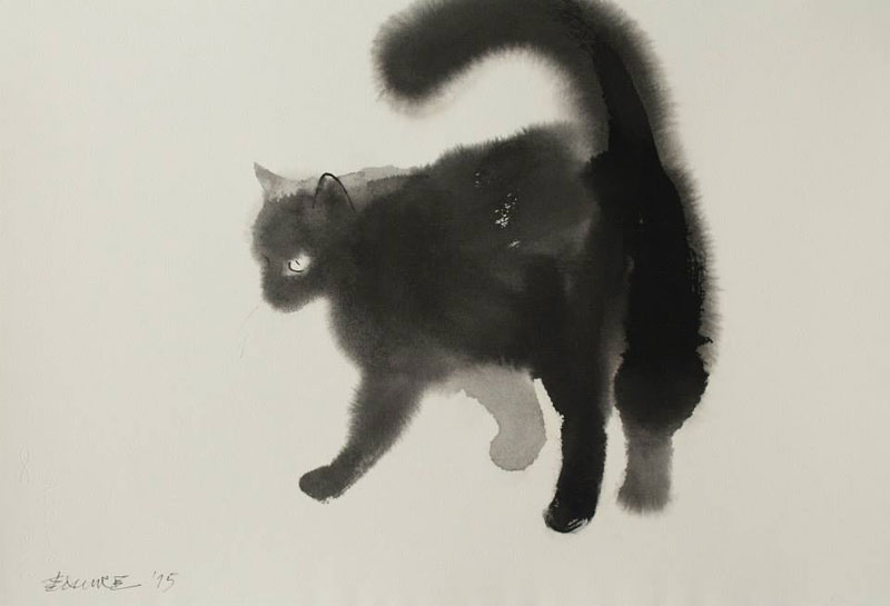 watercolor cats by endre penovac 11 Wolf and Hoof: 3D Animals by Maxim Shkret