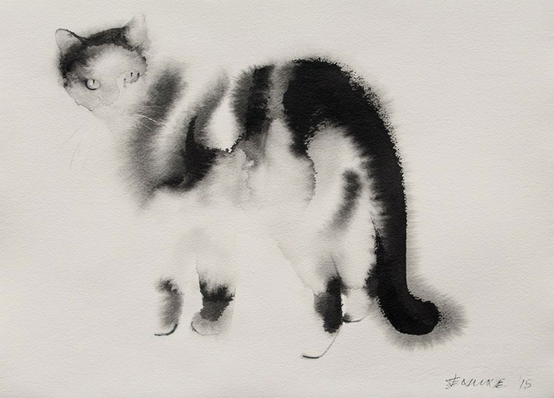 watercolor cats by endre penovac (14)
