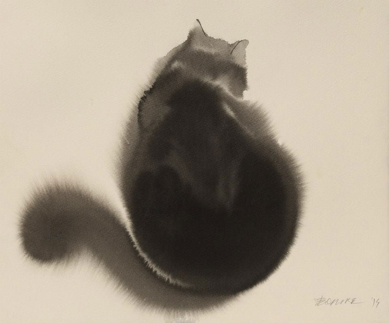 watercolor cats by endre penovac (7)