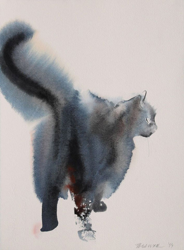 watercolor cats by endre penovac (9)