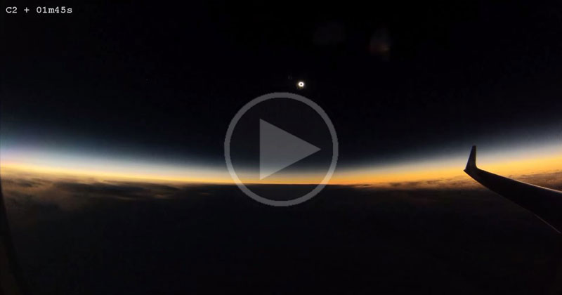 What March's Total Solar Eclipse Looked Like from an Airplane Window