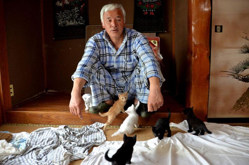 after fukushima Naoto Matsumura takes care of abandoned animals in tomioka (4)