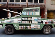 This Guy Built a Book Tank to Promote Literature