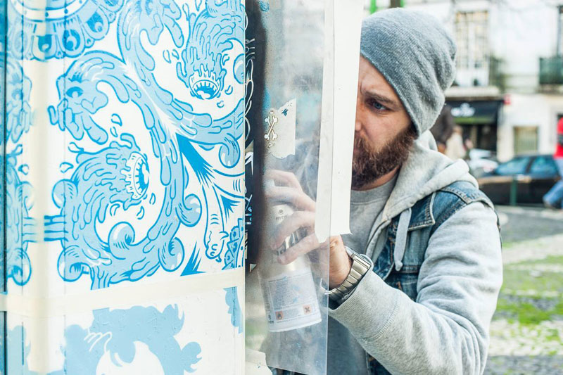 ceramic tile street art diogo machado add fuel lisbon (1)