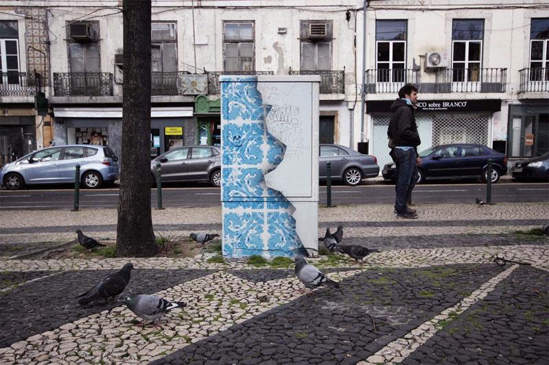 ceramic tile street art diogo machado add fuel lisbon (3)