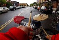 Riding With Greg Hum, the Drum Bike Guy
