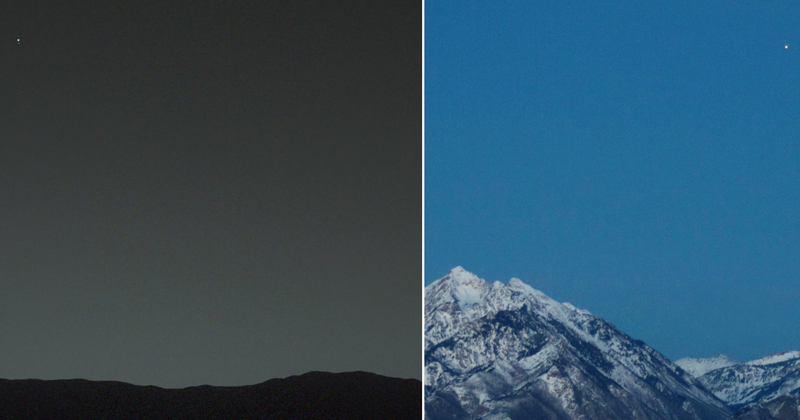 Picture of the Day: Earth from Mars and Mars from Earth
