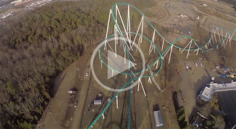 This is What an 81 degree, 325 ft Drop at 95 mph Looks Like