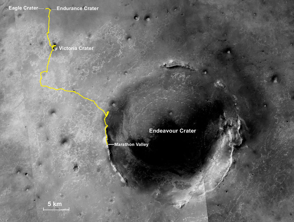 Mars Rover Completes 1st Ever Marathon on Another Planet (1)