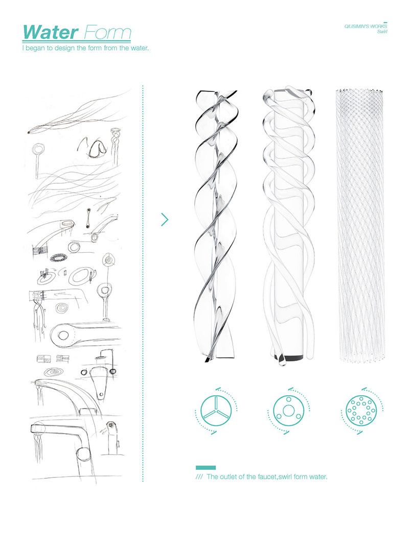 simon qiu Designs Faucet that Saves and Swirls Water Into Amazing Patterns (7)