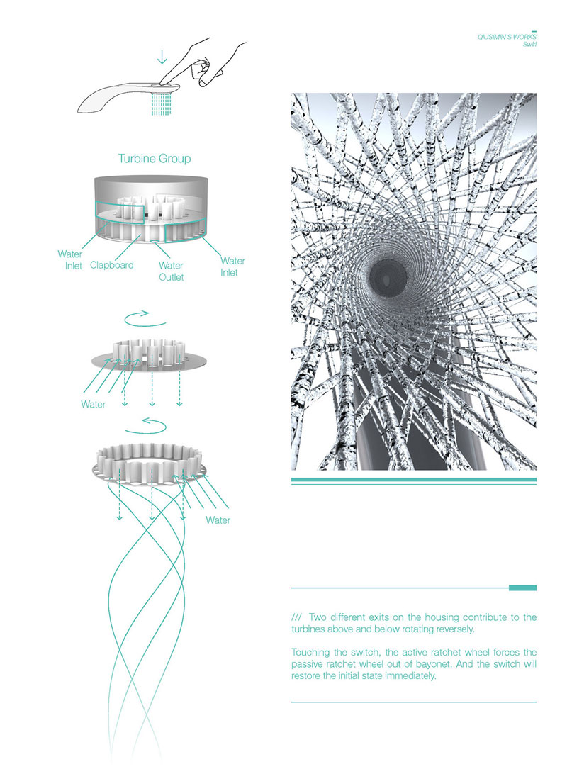 simon qiu Designs Faucet that Saves and Swirls Water Into Amazing Patterns (8)