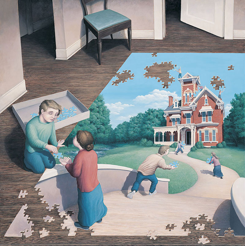 surreal optical illusion paintings by rob gonsalves (13)