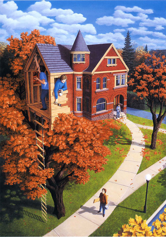 surreal optical illusion paintings by rob gonsalves (22)