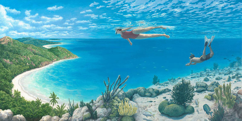 surreal optical illusion paintings by rob gonsalves (8)