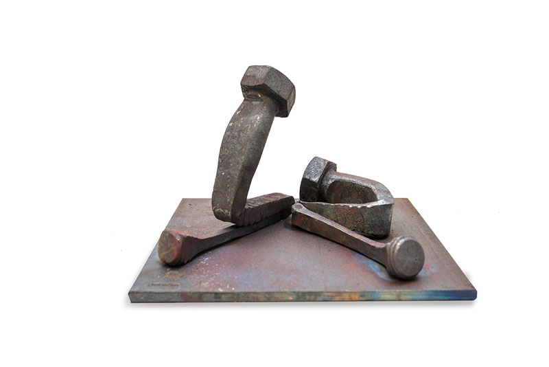 tobbe malm transforms steel bolts into evocative sculptures (1)