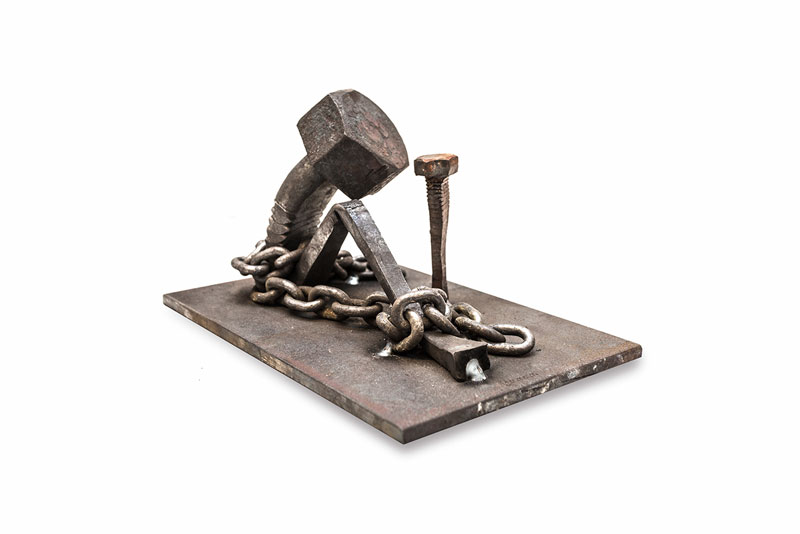 tobbe malm transforms steel bolts into evocative sculptures (4)