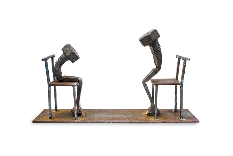 tobbe malm transforms steel bolts into evocative sculptures (6)