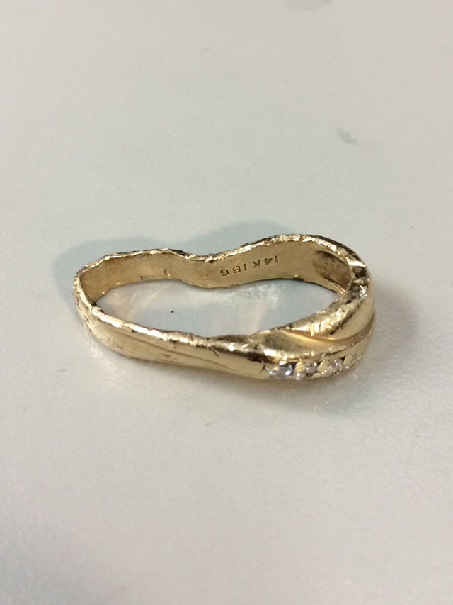 Wedding Ring Restoration Afer Falling Into a Garbage Dispoal (1)