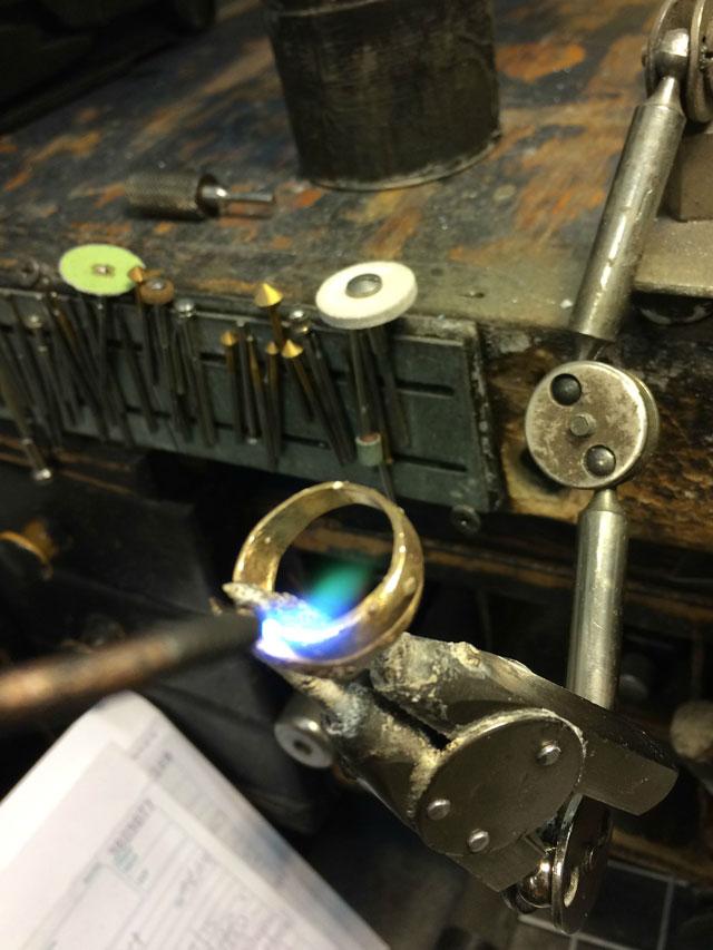 Wedding Ring Restoration Afer Falling Into a Garbage Dispoal (10)