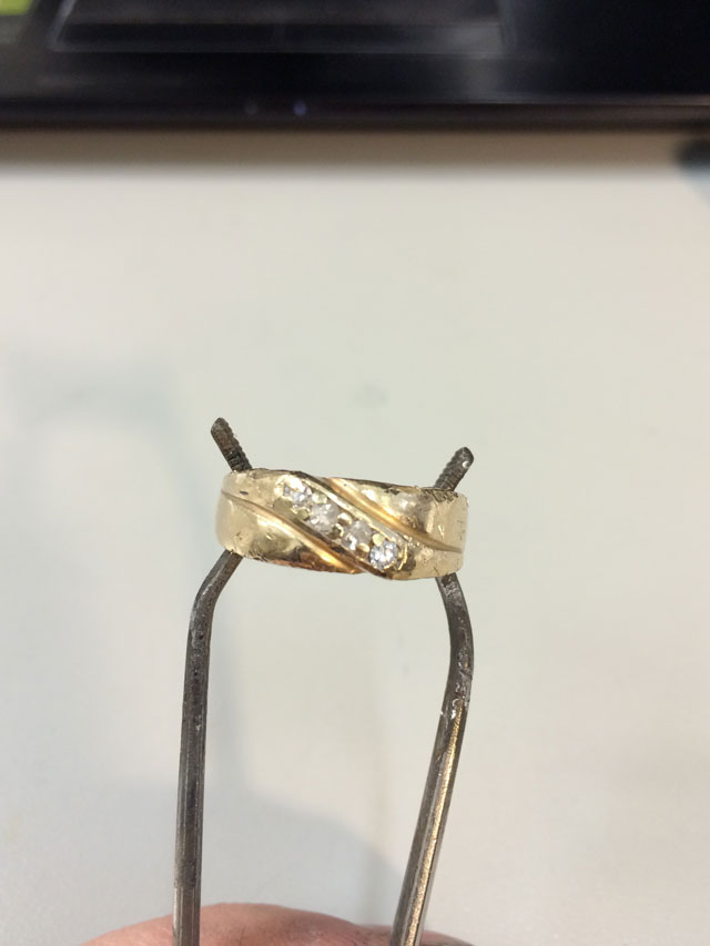 Wedding Ring Restoration Afer Falling Into a Garbage Dispoal (11)