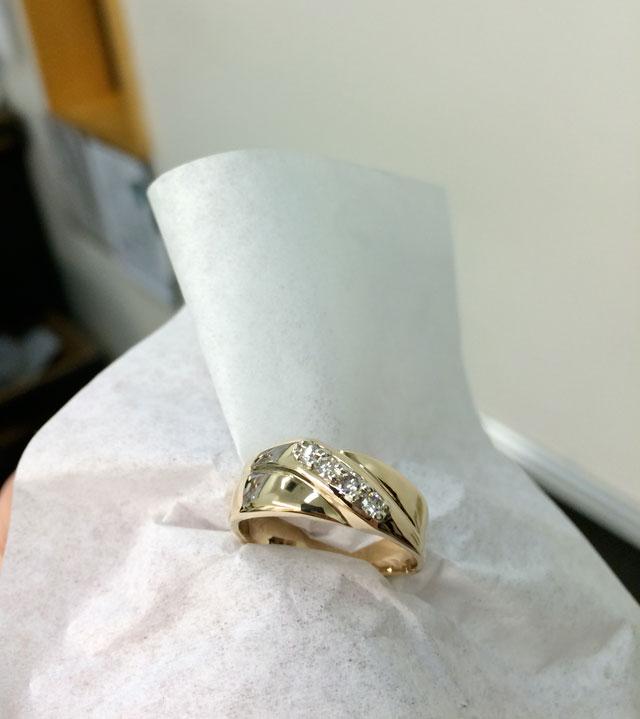Wedding Ring Restoration Afer Falling Into a Garbage Dispoal (18)