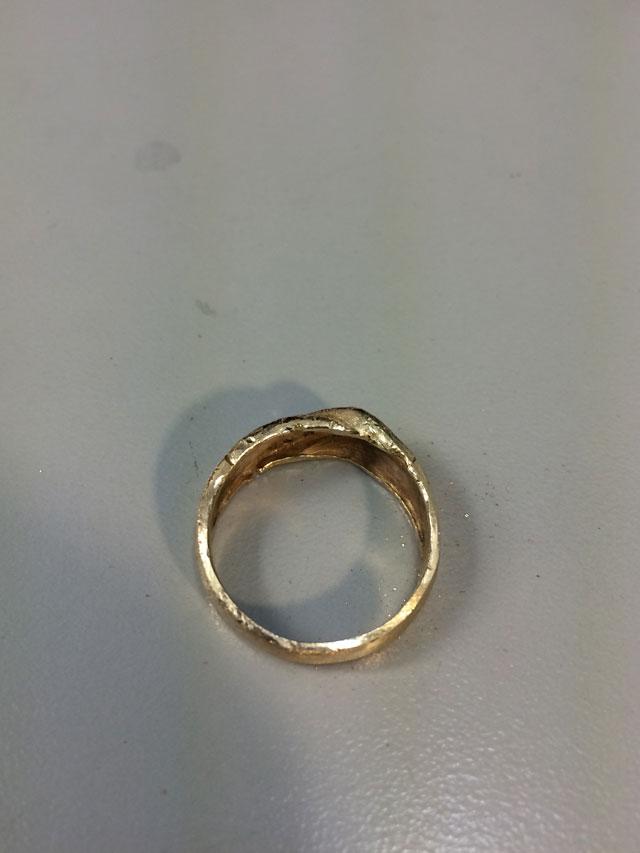 Wedding Ring Restoration Afer Falling Into a Garbage Dispoal (9)