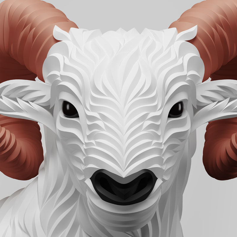 Wolf and Hoof 3D Animals by Maxim Shkret (3)