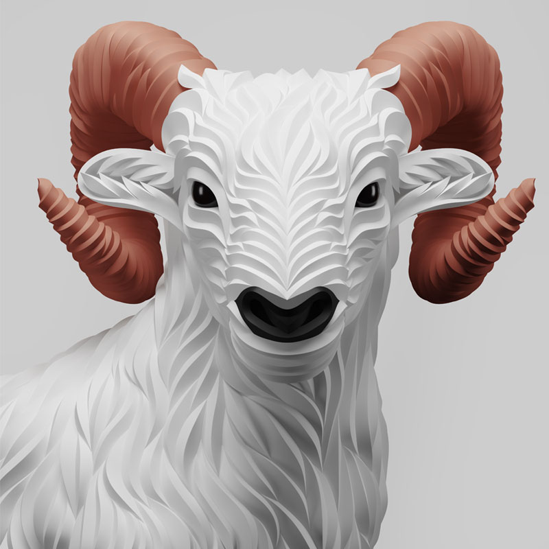 Wolf and Hoof 3D Animals by Maxim Shkret (8)