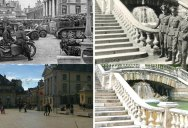 Guy Finds WWII Photos of his Hometown and Reshoots What it Looks Like Today