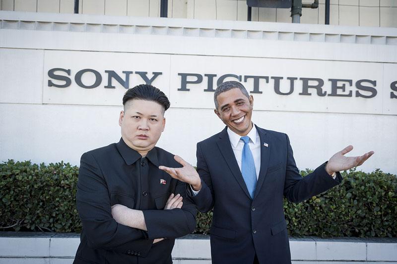 Barack Obama and Kim Jong Un Impersonators Meet in LA (5)