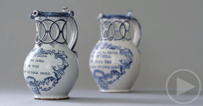Ceramics Artist Recreates an 18th Century Puzzle Jug