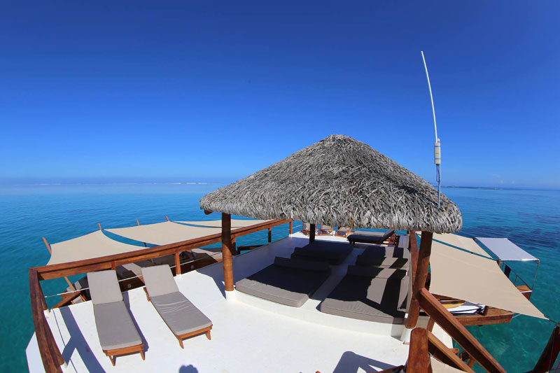 cloud 9 fiji floating bar in the middle of the ocean (5)