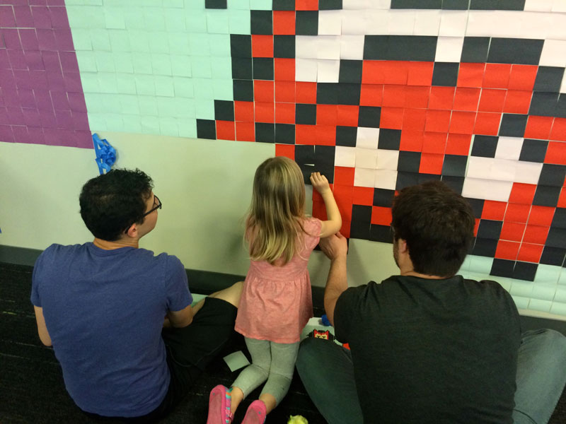 Employee Uses Post-Its to Turn Drab Office Walls Into Giant Superhero Murals (10)