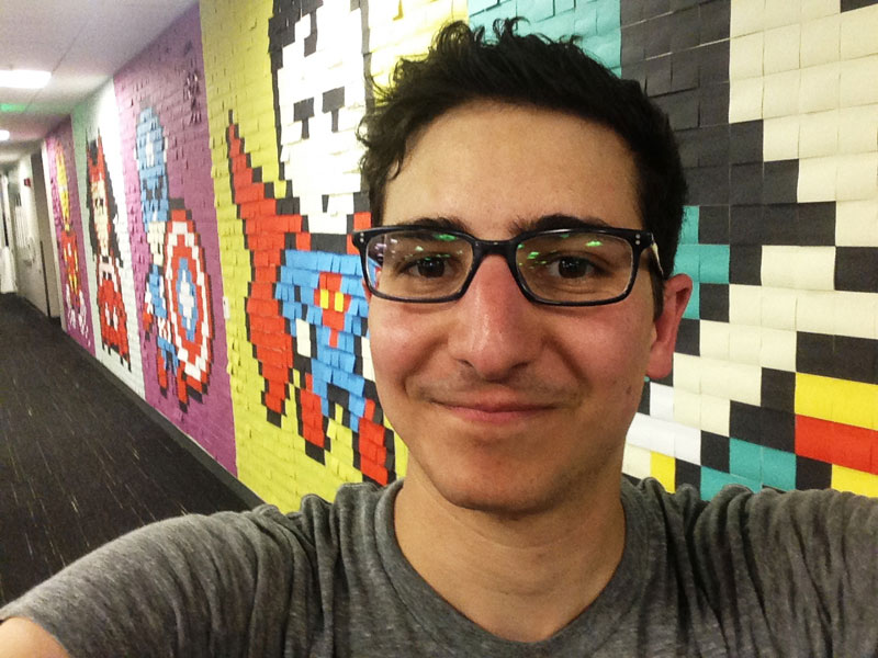 Employee Uses Post-Its to Turn Drab Office Walls Into Giant Superhero Murals (21)