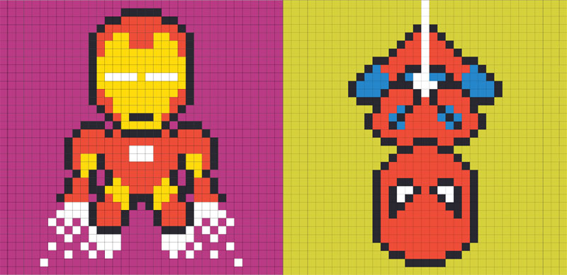 Employee Uses Post-Its to Turn Drab Office Walls Into Giant Superhero Murals (24)