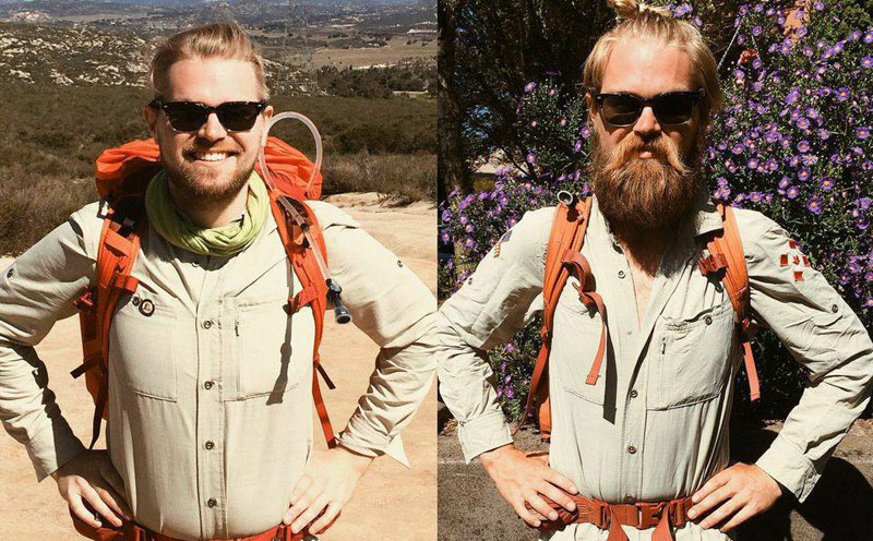 hiking from mexico to canada before and after Picture of the Day: Hiking from Mexico to Canada   Before and After