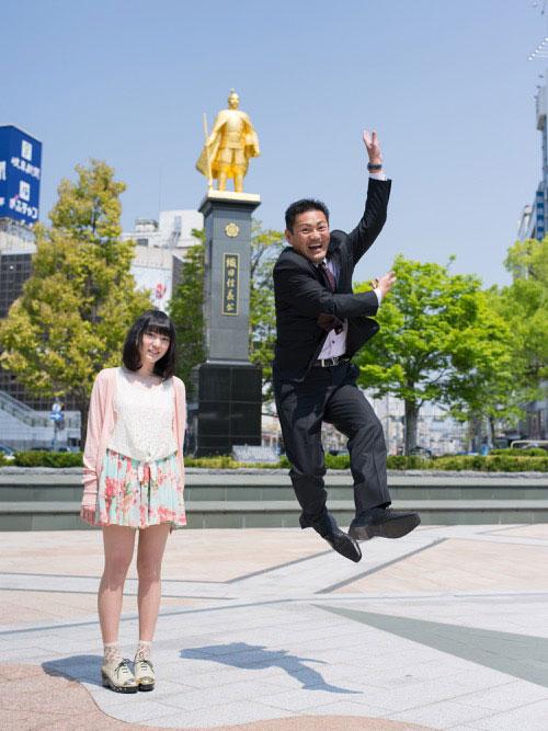 Japanese Businessmen Jumping Beside their Daughters by yuki aoyama (5)