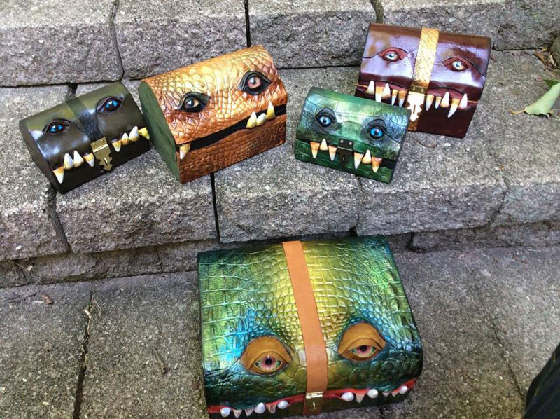leather monster bags and boxes by mellie z fine line leather design (16)
