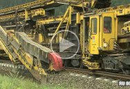 This Moving Assembly Line of Machines Installs Railroad Tracks in Real Time
