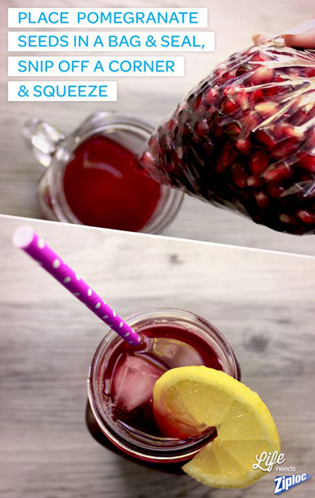 pomegranate juice life hack