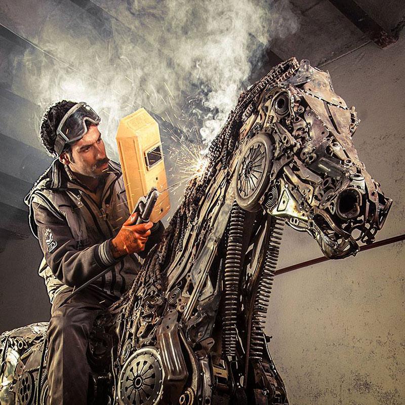 steampunk pegasus made from scrap metal by hasan novrozi (3)