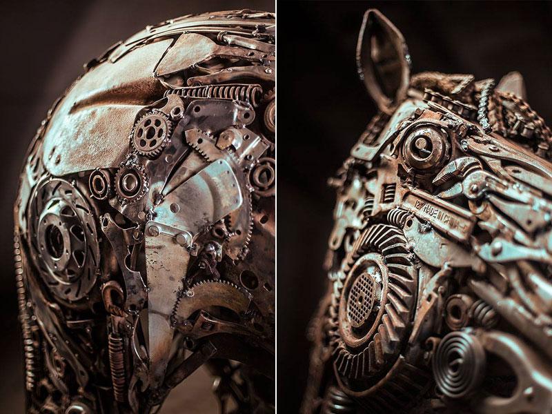 steampunk pegasus made from scrap metal by hasan novrozi (6)