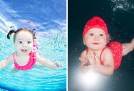 Underwater Photos of Babies Discovering a Brand New World