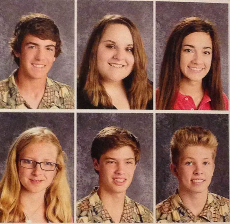 arkansas high school students pass around pineapple shirt for picture day (3)