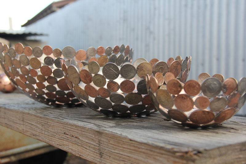 Artist Turns Discarded Keys and Coins Into Works of Art (1)