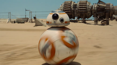 bb 8 droid Just a Guy Riding a Giant Ball Playing Star Wars with a Flaming Bagpipe