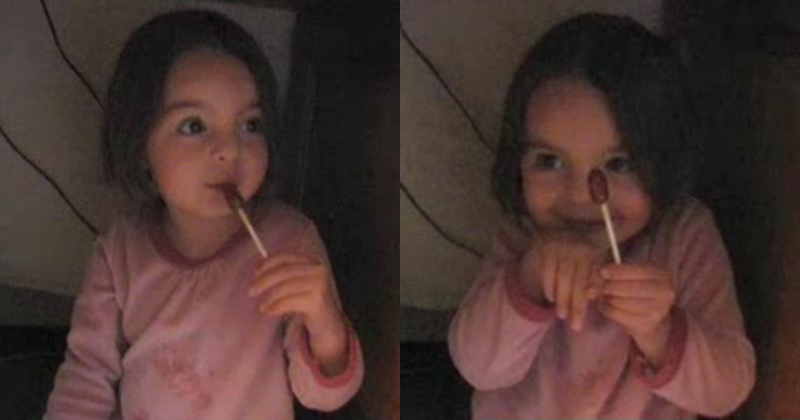 A Candy Thief Conspires With Her Mom