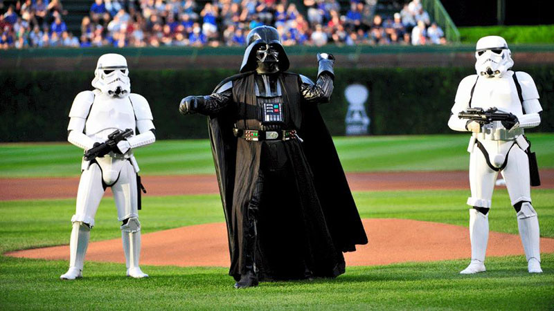 darth vader throws first pitch