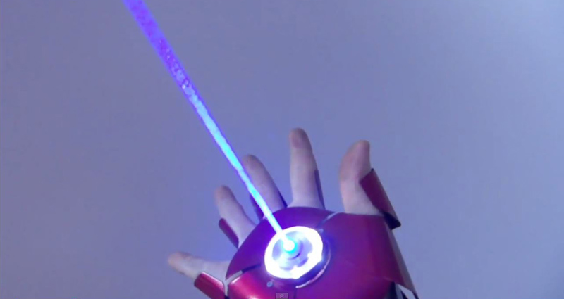 This Guy Made a Dual Laser Iron Man Glove with Sounds and Ejecting Shell