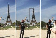 Can Someone Photoshop the Eiffel Tower Under My Finger? (40 Photos)